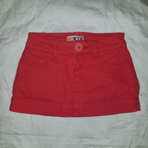 Roxy girls skirt , skort, red,  size 10